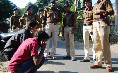 Female Police Patrol in India Striking Fear into Young People