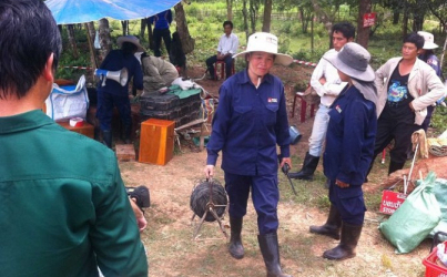 Lao Women Work to Clear Millions of Unexploded Bombs