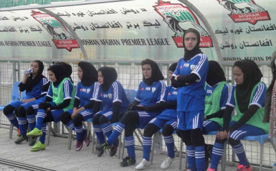 Women Footballers Kicking Goals in Afghanistan