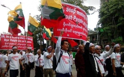 Ultra Nationalist Anti-Rohingya and Anti-UN Protests in Yangon