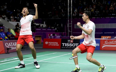 Tim Bulu Tangkis Beregu Putra Indonesia Melaju ke Final Asian Games