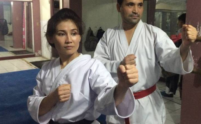 Afghan Karate champ fighting her way through refugee process in Indonesia