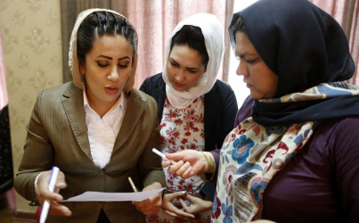 Afghanistan's first all-women's TV station
