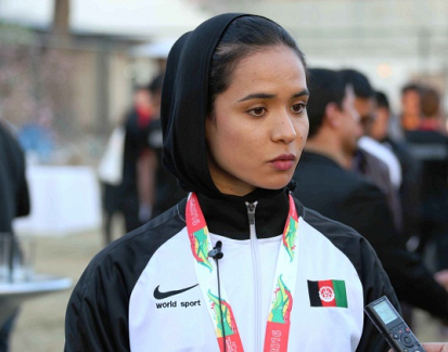 Afghan Woman Champion Brings Home Gold