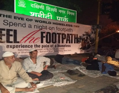 Empathy as compassion, drawing attention to India's homeless through unusual means