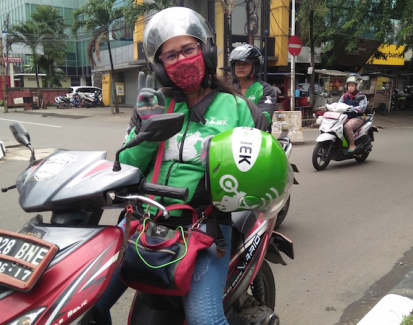 Steering change, Indonesian women take on Jakarta with their motorbikes