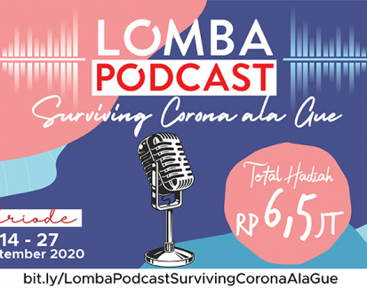 "Lomba Podcast ""Surviving Corona ala Gue"""