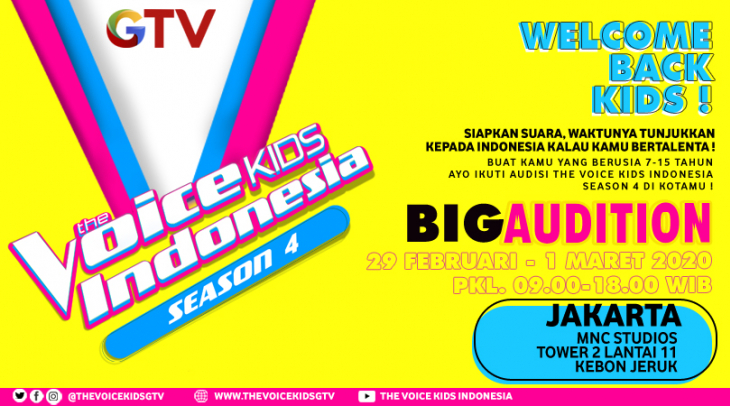 [Advertorial] Recruitment The Voice Kids Indonesia Season Ke 4 Dimulai!