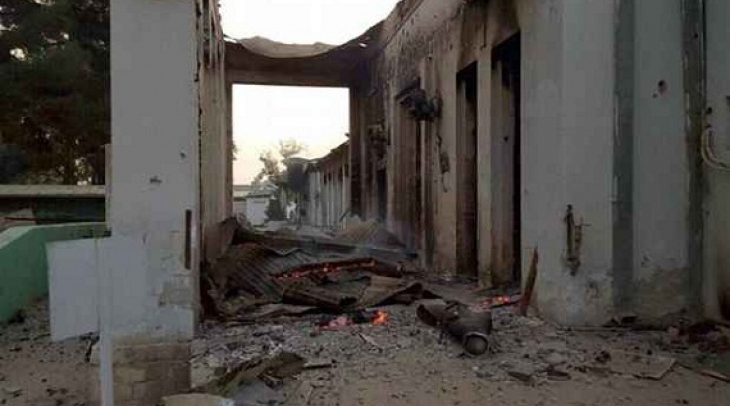 MSF Hospital after US airstrike. (Photo: Ghayor Waziri)