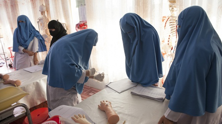 Midwives during training organized by Swedish Committee for Afghanistan.