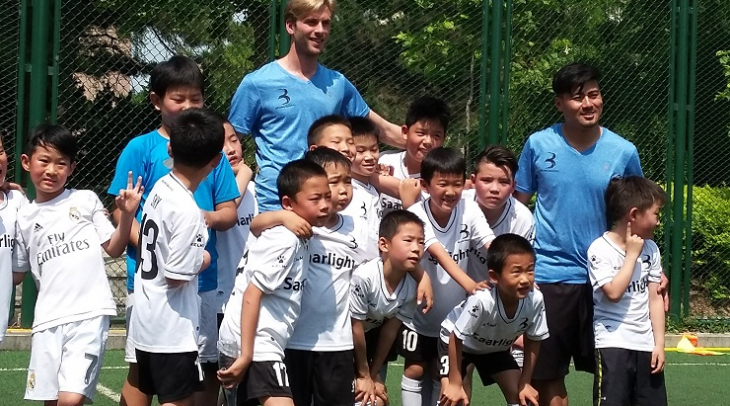 Chinese youngsters after football training (Photo: Abhijan Barua)