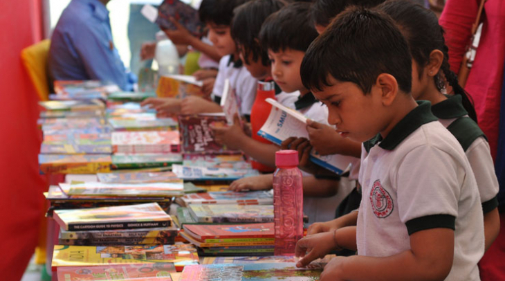 Children at Literary Festival in Jaipur India (Photo: Jasvinder Sehgal)