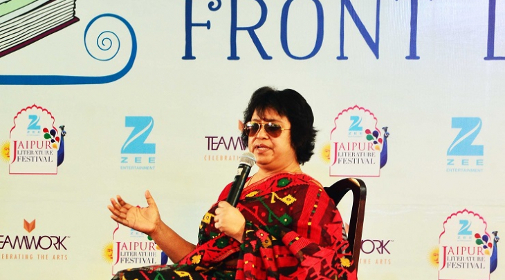 Tasleema Nasreen at Jaipur Literary Festival, 2017 (Photo: Jasvinder Sehgal)