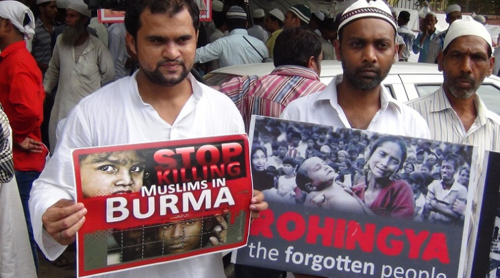 Indians protest against the government's decision to send Rohingya refugees back to Myanmar (Photo: