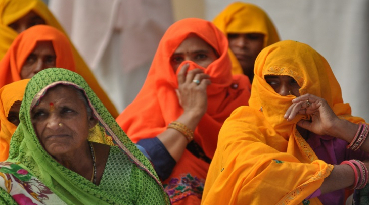 Women at India's water parliament (Photo: Jasvinder Sehgal)