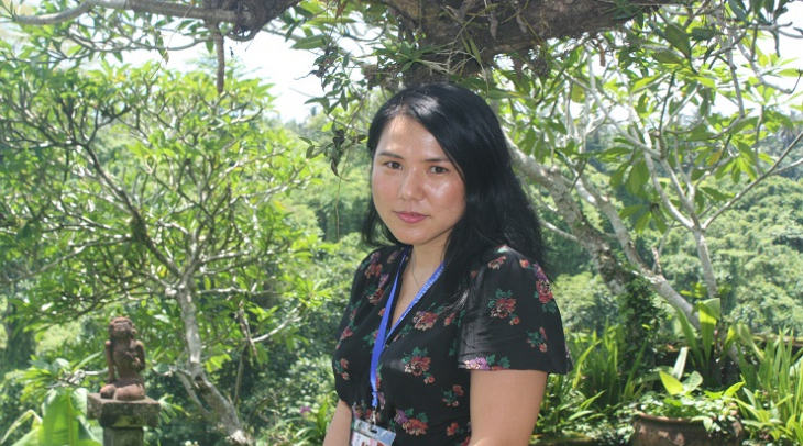 Suki Kim at the Ubud Writers and Readers Festival (Photo: Nicole Curby)