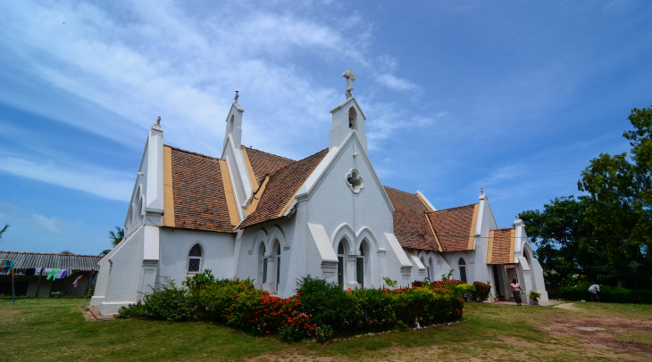A church in the Sri Lankan city of Negombo, that has become home to many Pakistani asylum seekers fl