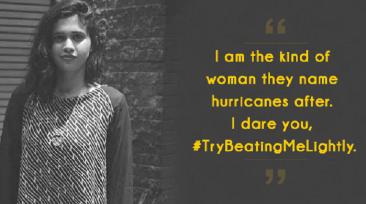 The hashtag #TryBeatingMeLightly is part of an online debate that addresses violence against women i