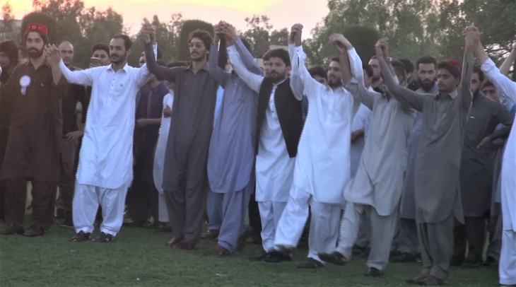 Pashtun men dance the Attan (Photo: Mudassar Shah)