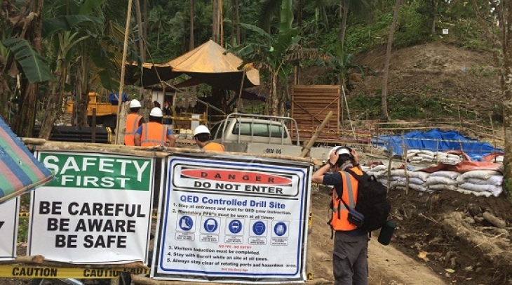 Drilling is underway on the Philippine island of Mindoro to harness the area's geothermal energy pot
