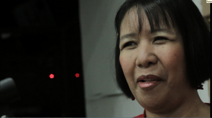 Carol Catacutan in a still from the film Audio Perpetua, by Ivy Baldoza and Melanie Entuna. The film