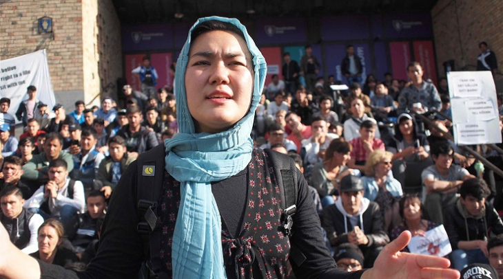 17 year old Fatemeh Kharvari is a Hazara refugee and has led demonstrations in Sweden (Photo: Ric Wa