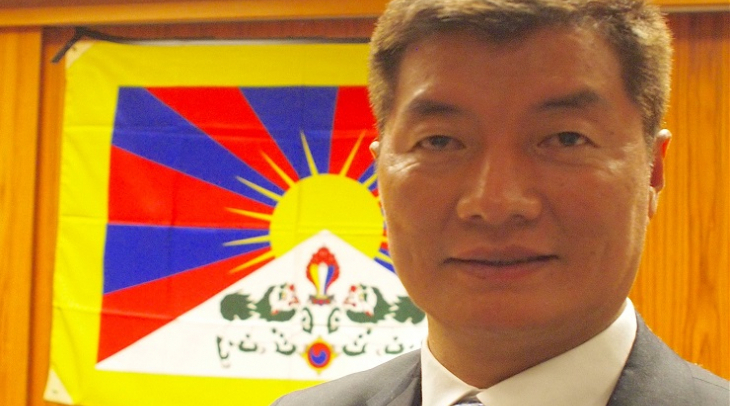 Tibetan President-in-exile, Lobsang Sangay (Photo: Ric Wasserman)