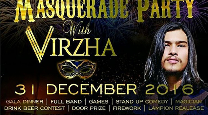Masquerade Party with Virzha di Best Western Plus Coco Palu