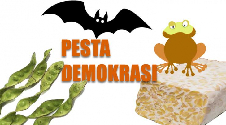 Ilustrasi: Menu pesta demokrasi 2019
