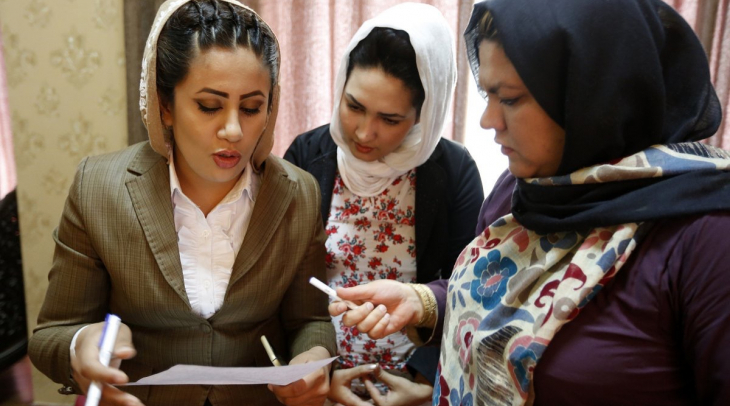 Zan TV  is Afghanistan's first television station by and for women (Photo: Shadi Khan Saif)
