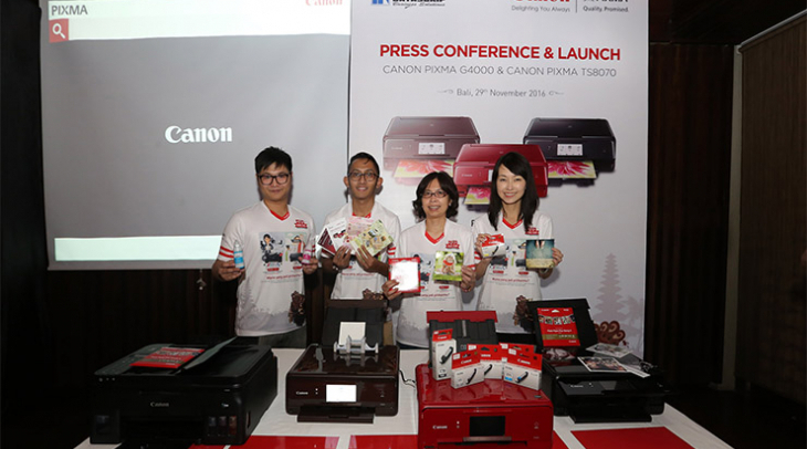 [Advertorial] Canon Luncurkan Dua Seri Printer Ink-Jet Baru: PIXMA G4000 dan PIXMA TS8070
