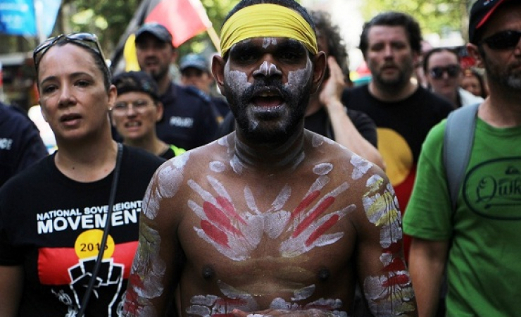 Indigenous Australians protests are held against the national celebrations each year. (Photo: Jarni