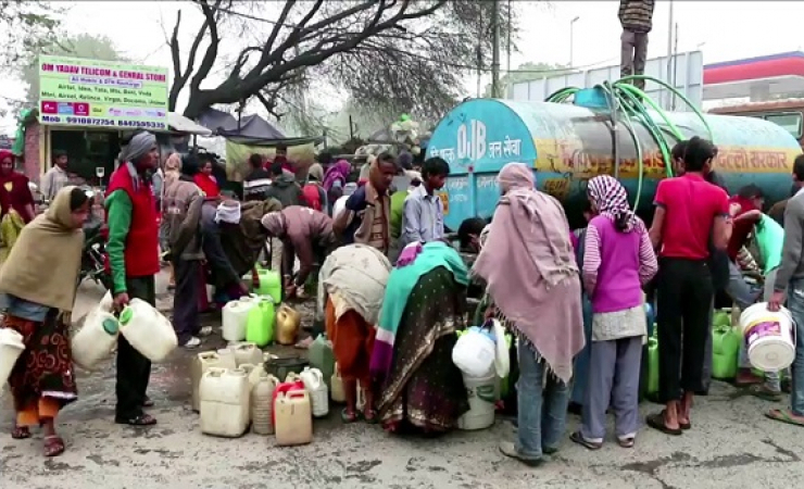 Water shortage is an issue even in the capital New Delhi. (Photo: Bismillah Geelani)
