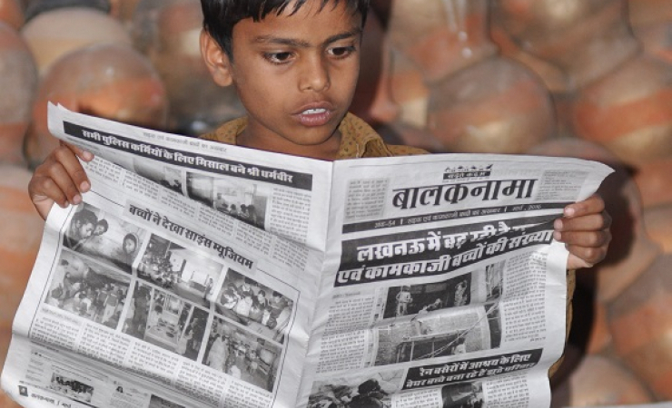 Balaknama newspaper, India's Slum Kid Reporters (Photo: Jasvinder Sehgal)