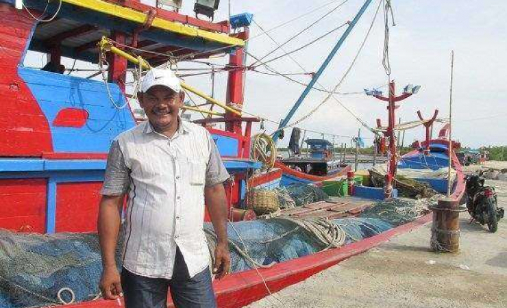 Ibrahim, Indonesian fisherman who saved starving, exhausted migrants. (Photo: Rio Tuasikal)