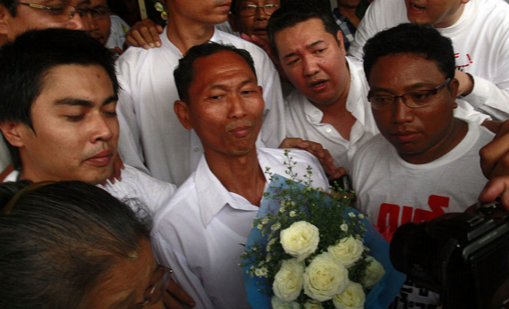 Democracy activist and close ally of Aung San Su Kyi, Ko Ni, pictured here in 2012, was recently mur