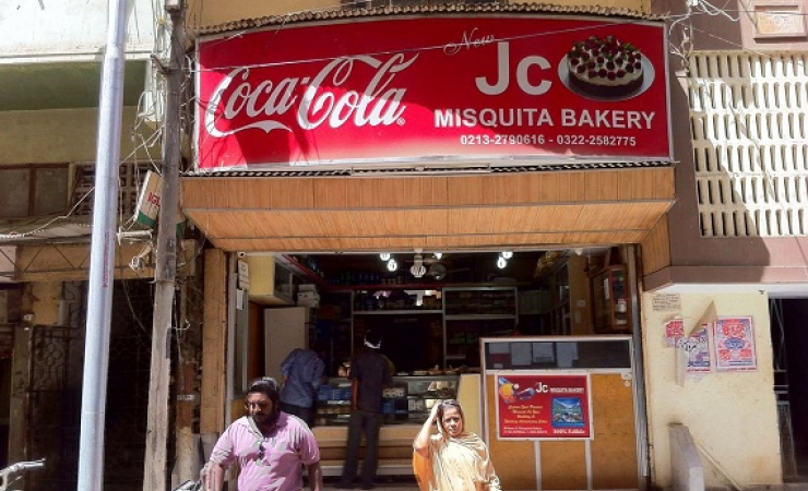 The Bakery JC Misquita who made hot cross bun in Karachi. (Photo: Naeem Sahoutara)