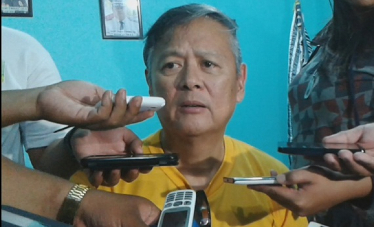 Former Palawan, Philippines governor Joel Reyes gives a press conference inside a city jail. Reyes a