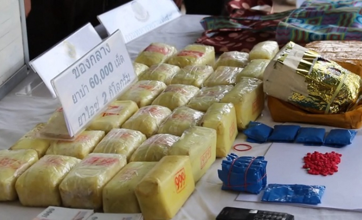 Ice and amphetamine seized by Thai Police (Photo courtesy of Royal Thai Police)
