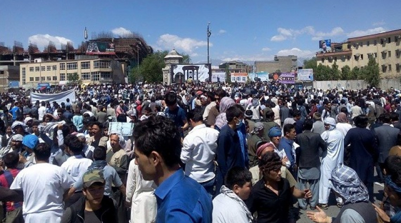 Thousands of ethnic Hazaras from Afghanistan took to the streets of Kabul to demand the government i