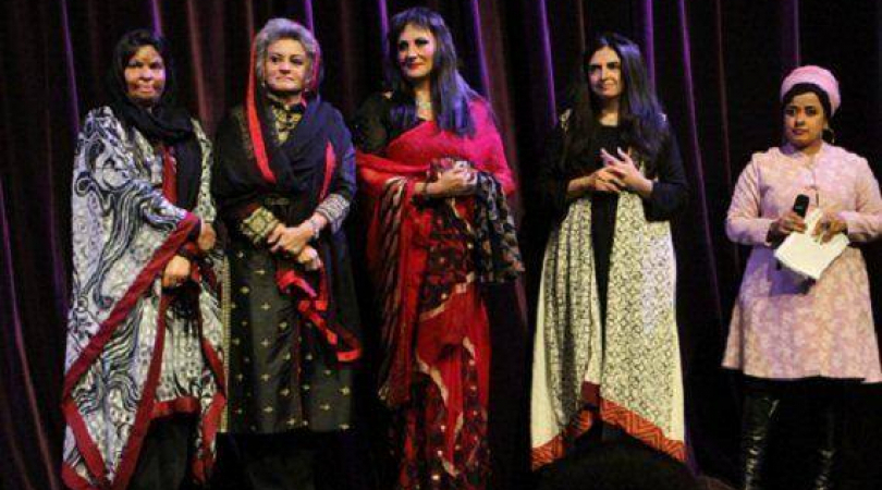 Left to right: Sabra Sultana, Musarat Misbah, Feryal Ali Gauhar, Ayesha Bux, Tasneem Chopra. (Photo:
