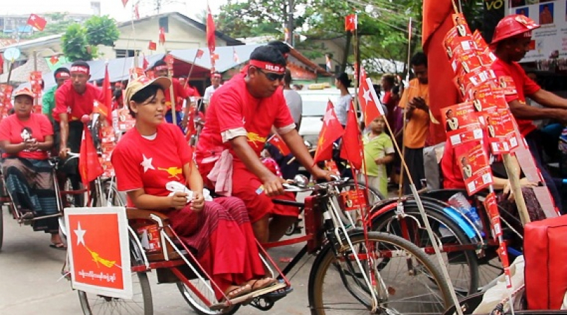 NLD supporters. (Photo: Phyu Zin Poe)
