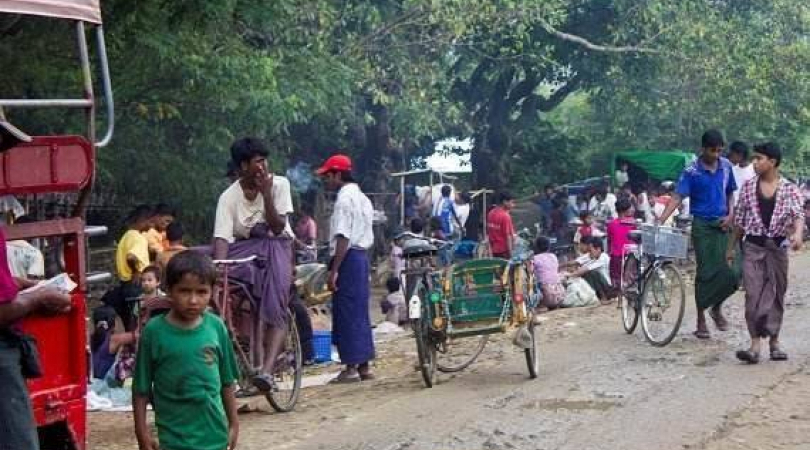 Rohingya community in Bu Thee Tuang, in the northern part of Rakhine State. (Photo:  Banyol Kong Jan