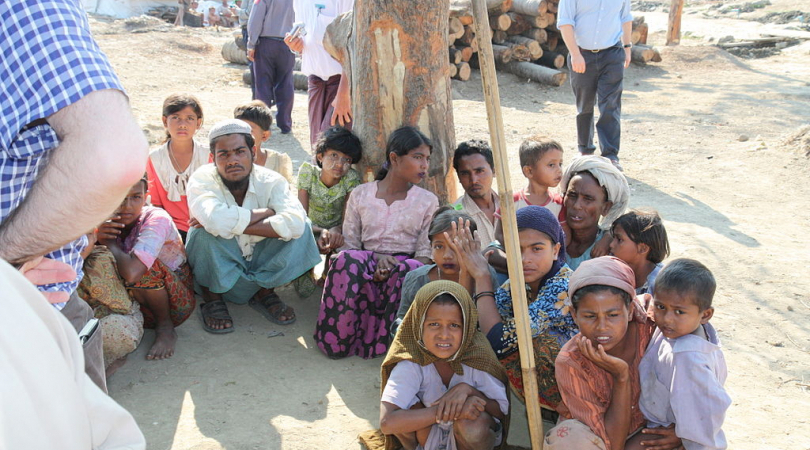 Displaced Rohingya people in Rakhine State (Photo courtesy of Foreign and Commonwealth Office)