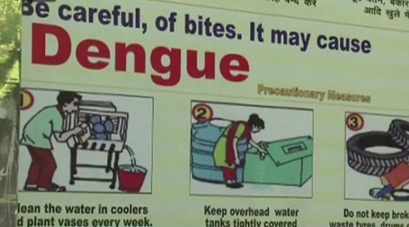 Hoardings raising awareness about Dengue have been put up  across New Delhi. (Photo: Bismillah Geela