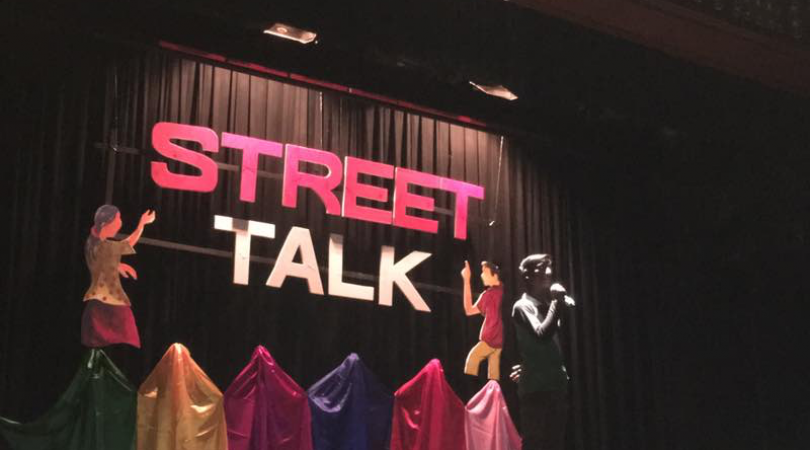 In New Delhi, the event 'Street Talk,' gave street kids the opportunity to tell their stories in the