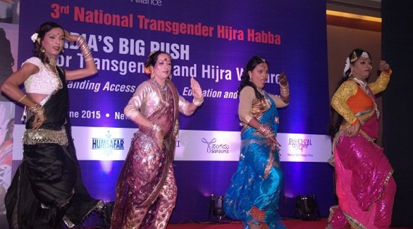Indian transgenders performance in national conference in New Delhi. (Photo: Jasvinder Sehgal)