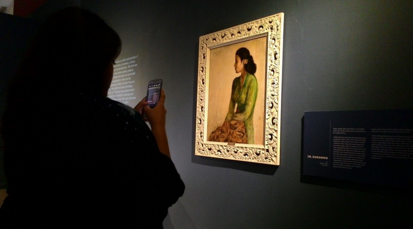 The painting 'Rini' by Indonesia's first President Sukarno is now on display at the National Gallery