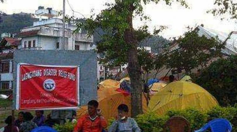 Langtang relief camp in Kathmandu. (Photo: Rajan Parajuli)