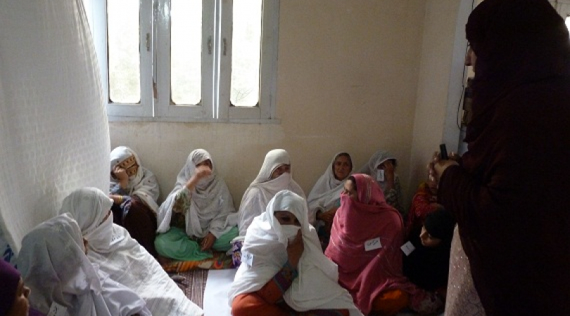 Neelam held a meeting for women whose husbands have gone missing due to the war between the Taliban